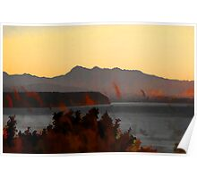 Evening Light, Discovery Bay, Port Townsend  Poster