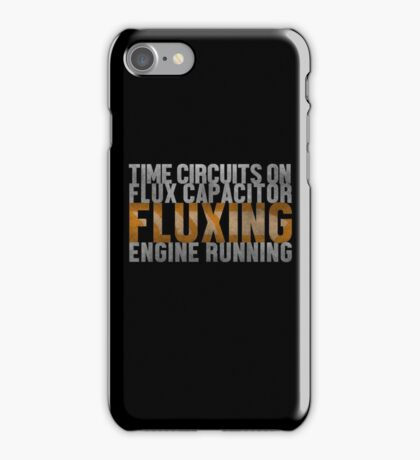 Back To The Future - Fluxing - White Dirty iPhone Case/Skin