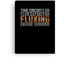 Back To The Future - Fluxing - White Dirty Canvas Print