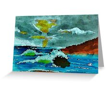 Stormy seas and sky, watercolor Greeting Card