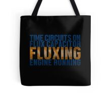 Back To The Future - Fluxing - Colored Dirty Tote Bag