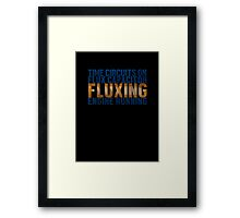 Back To The Future - Fluxing - Colored Dirty Framed Print