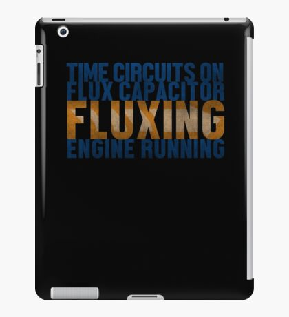Back To The Future - Fluxing - Colored Dirty iPad Case/Skin