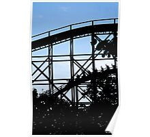 Roller Coaster silhouette. Poster