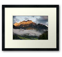 Dawn at Dom Y Planici, Slovenia (viewed 209 times) Framed Print