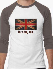 British Flag with Tea Reference Men's Baseball ¾ T-Shirt