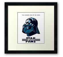 Darth Kitty - Imperial blue Framed Print