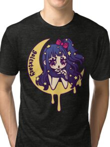 Werepop - galaxy moon starry night girl Tri-blend T-Shirt