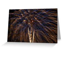 A Fireworks Tree Greeting Card