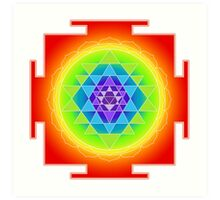 Sri Yantra Chakras Color Art Print