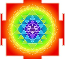 Sri Yantra Chakras Color by PixDezines