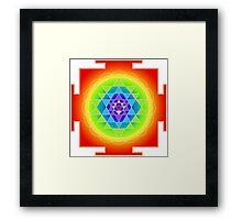 Sri Yantra Chakras Color Framed Print