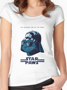 Darth Kitty - Imperial blue Women's Fitted Scoop T-Shirt