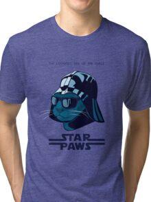 Darth Kitty - Imperial blue Tri-blend T-Shirt