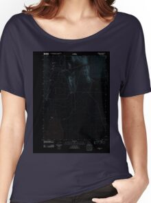 USGS Topo Map Oregon Andrews 20110818 TM Inverted Women's Relaxed Fit T-Shirt