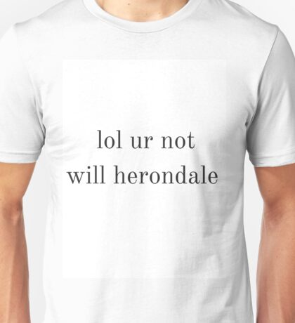 will herondale Unisex T-Shirt