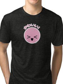 Kawaii Emoticon Tri-blend T-Shirt