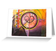 Tears Stain the Eye of Reason. Greeting Card