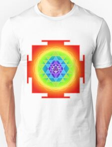 Sri Yantra Chakras Color Unisex T-Shirt