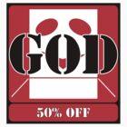 GOD 50% OFF (STICKER) by Anthony Trott