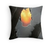 Sunrise in a Fork, -24° Throw Pillow