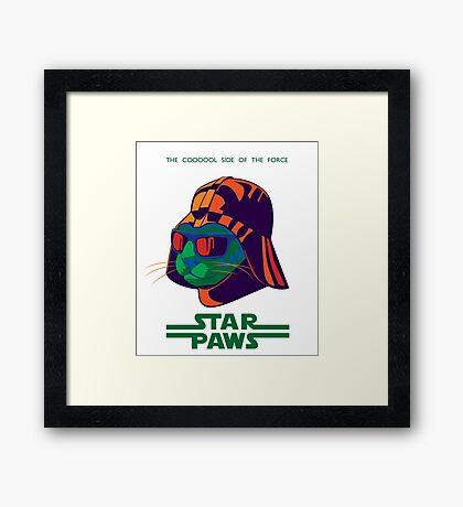 Darth Kitty - Disco Framed Print