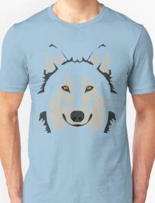 Simple Grey Wolf Vector Full Design T-Shirt