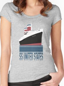 The SS United States - Bon Voyage Women's Fitted Scoop T-Shirt