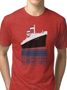 The SS United States - Bon Voyage Tri-blend T-Shirt