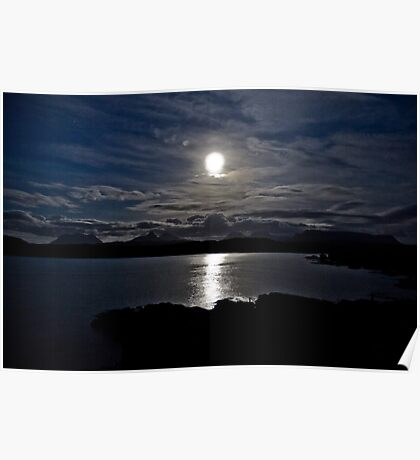 Assynt By Moonlight Poster
