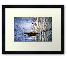 A drop of caffeine Framed Print