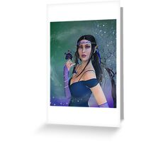 Elvin Woman Greeting Card