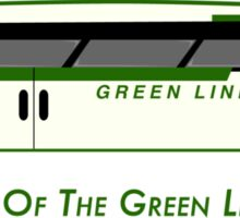 By Way of the Green Line Bus Sticker