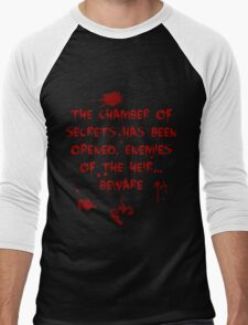 The Chamber of Secrets has been opened... Men's Baseball ¾ T-Shirt