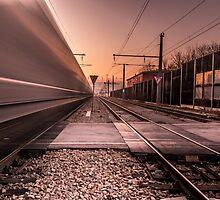 Train is passing fast by hayrettinsokmen