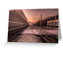 Train is passing fast Greeting Card