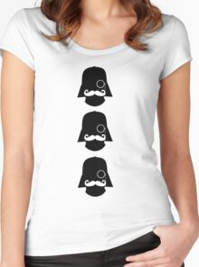 Hipster Darth Vader Women's Fitted Scoop T-Shirt