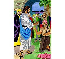 Bartimaeus Was Healed By the Holy Man Photographic Print