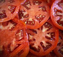 Sliced Homegrown Tomatoes by Susan S. Kline