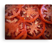 Sliced Homegrown Tomatoes Canvas Print