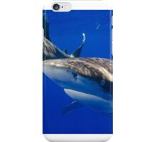 Close Encounter With An Oceanic White Tip Shark iPhone Case/Skin