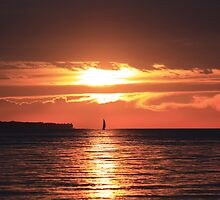 Lake Erie Sunset by peregrineRob