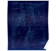 USGS Topo Map Nevada Disaster 321658 1893 250000 Inverted Poster