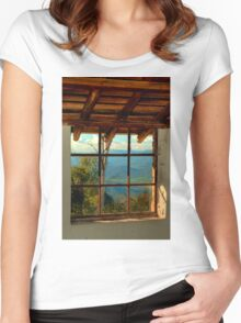0648 Through the Window Women's Fitted Scoop T-Shirt