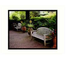 Sit down, relax and enjoy your surroundings.  Art Print