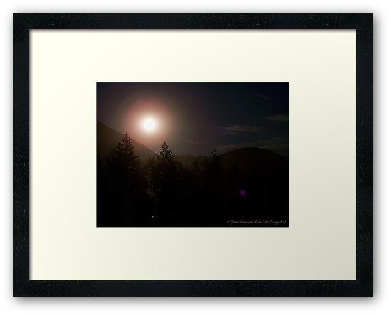 Moonrise over Glacier Park by rocamiadesign