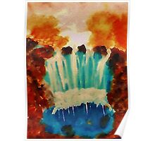 Fall Waterfall, waterclor Poster