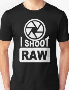 I Shoot Raw Photography Camera Photograph T-Shirt