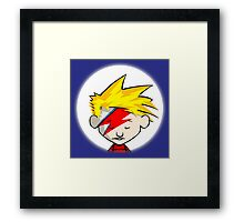 Calvin Flash Style Bowee Framed Print