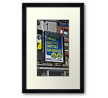 Gay Marriage in New York City Framed Print